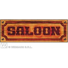 Saloon segno 78x26cm decorazione per Wild West Cowboy BAR LOCANDA PUB PARTY