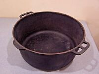 Vintage Wagner Ware Sidney O 1268 Cast Iron Dutch Oven Roaster No Lid Camping