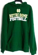 Notre Dame Fighting Irish Football Adidas Hoodie Sweatshirt Green Cotton L Large
