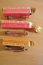 Vintage Soviet medical syringes.  USSR. 1980s