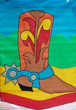 Cowboy Boot Standard Applique House Flag by NCE, #20370