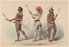 George Catlin's Indian Gallery: Ball Players - Fine Art Print