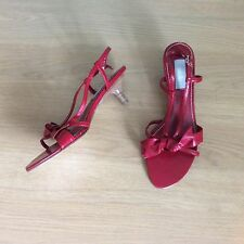 *NEW* RRP £50 Wallis Red Leather Strappy Sandals Size 5