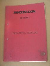 Honda CR125 M 2 Ersatzteil - Katalog_Teile Liste_Parts List_Unterlagen_Heft