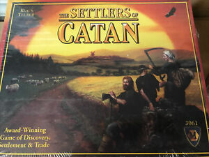 THE SETTLERS OF CATAN BOARD GAME KLAUS TEUBER NEW SEALED 3061 CHRISTMAS AWARD