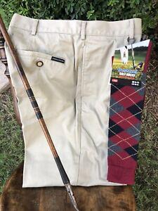 Golf knickers   32 - 33  STRUCTURE!  NEW long  Argyle Knicker Socks!  Sharp!