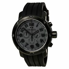Authentic TW Steel Men's TW129 Grandeur Tech Chronograph Watch DARK GRAY /BLACK