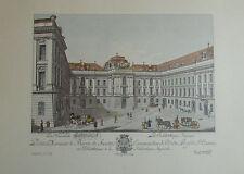Carl Schütz Die Kaiserliche Hofbibliothek Wien - Kunstblatt Reproduktion print
