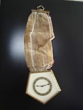 RARE EDWARDIAN ANTIQUE PENTAGON SHAPED HANGING WATCH. SWISS JEWELLED MOVEMENT