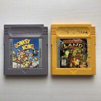 Donkey Kong 1994 Land 2 Authentic Original OEM Nintendo Game Boy Bundle Lot USA
