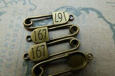 Número de encantos de tono de bronce afirmación Lindo Crafts