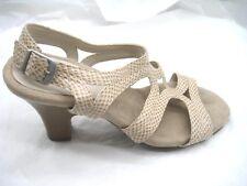 838310cbea Aerosoles 9M beige brown slingback sandals womens ladies shoes heels 92994-5