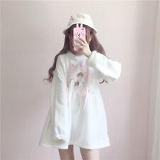 Japanese Lolita Long Sleeve Collect Waist One Piece Dress Sweet Princess Skirt