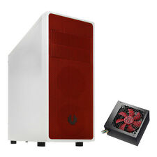 BITFENIX NEOS BIANCO/ROSSO ATX mATXUSB Mini itx Gaming PC Computer Case & 750W PSU