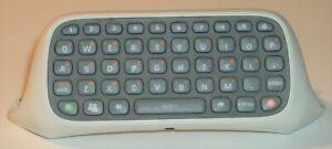Microsoft Xbox 360 Chatpad Keyboard Controller Attachment ~ White X814365-001