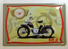 MOTO - SIMSON - GOLONDRINAS-DDR- SR 2 - Letrero De Metal 30 x 20cm (BS 662)