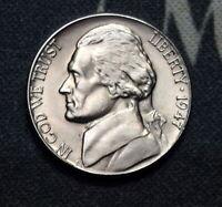 1947-D BU Jefferson Nickel Free Shipping Satisfaction Guaranteed