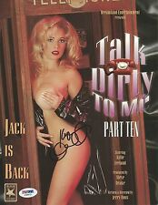 Kylie Ireland Signed 8x10 Photo PSA/DNA COA Talk Dirty To Me Promo Poster Auto'd