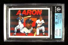HANK AARON Atlanta Braves Autographed 1991 Upper Deck Baseball Card ~ Certified