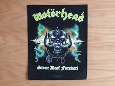 MOTORHEAD - STONE DEAF FOREVER   BACK PATCH (NEW) & OFFICIAL BAND MERCHANDISE