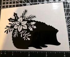 pet Christmas hedgehog vinyl decal sticker bauble cup glass decoration art craft