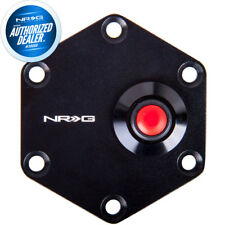 NEW NRG Aluminum Steering Wheel Horn Button Cover Plate W/ Button STR-600BK