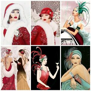 MARTINI ART DECO  Card Making Toppers, Card Toppers (12)