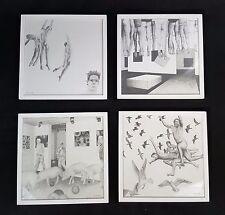 quatre EXCEPTIONNEL dessins au fusain, encadré derrière verre signé KE TOP