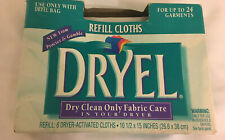 New Dryel Clean Breeze 6 Refill Cloths •Discontinued Dry Cleaning • Never Opened