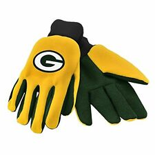 Green Bay Packers Utility 2 Tone Gloves NFL Work or Winter Team Colors