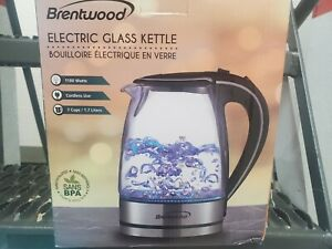 Brentwood KT-1900W Glass Electric Kettle - 1.7L