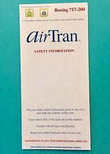 AIRTRAN AIRLINES SAFETY CARD-- 717