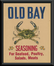 Old Bay Seasoning & Blue Crab Advertisement Reprint On 70 Year Old Paper *P080
