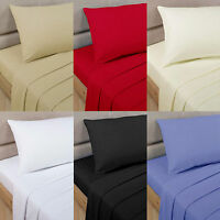 1200 Thread Count 100%Egyptian Cotton 4 PC Sheet Set US-Sizes All Solid Colors