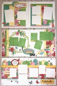 'Brushed' Spring Special  Occasion Pre-Cut 6-page Scrapbook Layout Kit