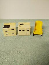 Plastic dollhouse furniture - 3 pieces