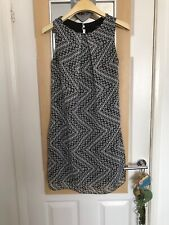 Black/White Lined Sleeveless Tunic Dress By Atmosphere. Sz 8