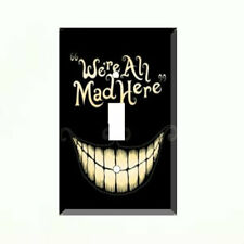Cheshire Cat Alice in Wonderland We're All Mad Here Single Light Switch Plate