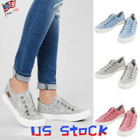 Casual Women Girls Flat Shoes Canvas Comfy Slip-On Sneakers Athletic Loafers US
