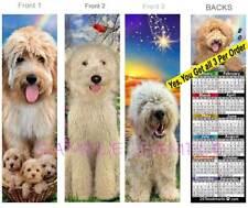 3 Set-Labradoodle 2020 Calendar Bookmark Cream Gold Dog Card Makes Perfect Gift