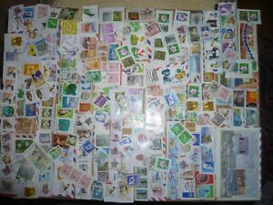40 grams mixtures Korea - South stamps on single paper kiloware