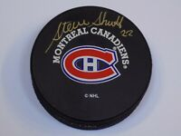 Montreal Canadiens Steve Shutt Signed Player NHL Hockey Puck Old Autograph HOF