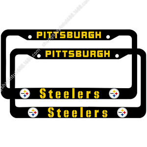 Pittsburgh Steelers 2PCS Chrome License Plate Frame Set Auto Truck Car Tag Cover