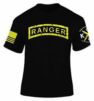 Distressed Ranger Tab T-Shirt I United States Army Ranger I Veteran I Military