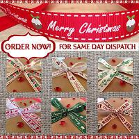 CHRISTMAS RIBBONS Grosgrain Berties Bows / Berisfords / Vintage / Wrapping