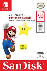 SanDisk 256GB MicroSD SDXC High Speed Memory Card for Nintendo Switch / Lite