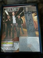 Helmet  Rock and Roll Band Signed Mini Poster Warp Tour Planner Sheet Framed