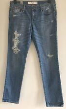 "BNWT~Abercrombie & Fitch Erin Skinny W28/L33 Distressed Jeans 28""WX 33""L RRP £65"