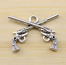 10/30/100 pcs Very beautiful ancient Tibet silver Two guns charm pendant