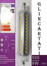 LAMPADINA LAMPADA LED R7S CALDA 118MM LED  ALOGENA LUCE 8W WATT 900 LUMEN